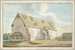 The great Hall of the Archbishop's Palace at Gillingham Kent 1785